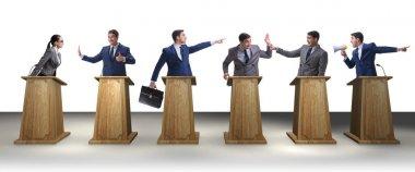 Politicians participating in political debate