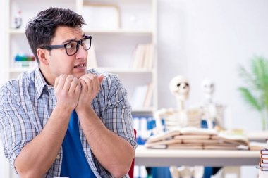Medical student preparing for exams