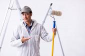 Fotografie Maler arbeitet auf Baustelle
