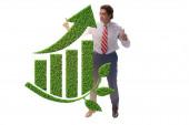 Zöld gazdaság növekedési koncepció az üzletemberrel