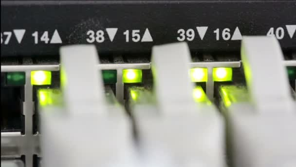 Lights and connections on network server