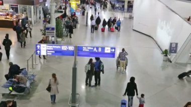 The departure lounge at Vnukovo airport, Moscow