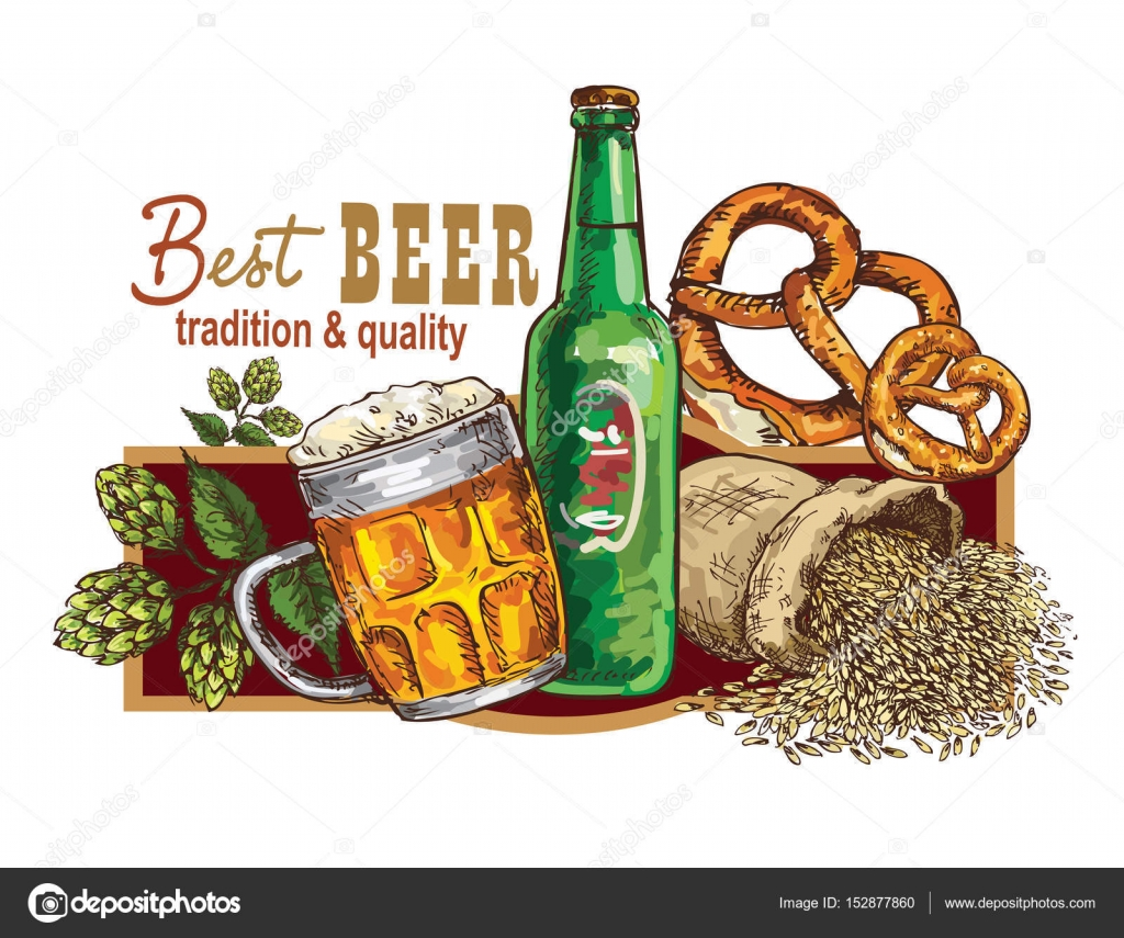 hand drawing beer banner stock vector grafnata 152877860