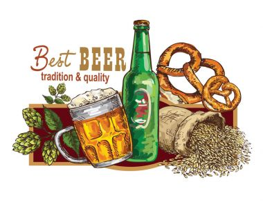 Hand drawing beer banner