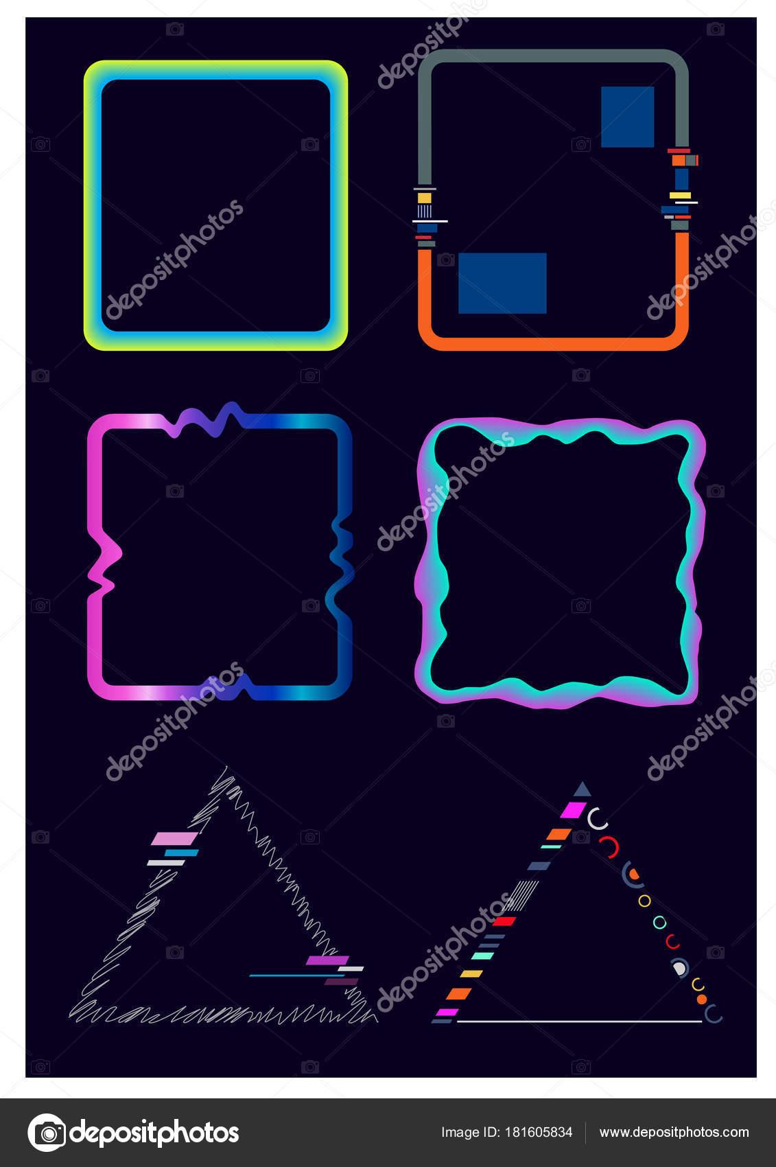 Conjunto Cuadros Arte Moderno Vector Marcos Con Estilo Geométricos ...