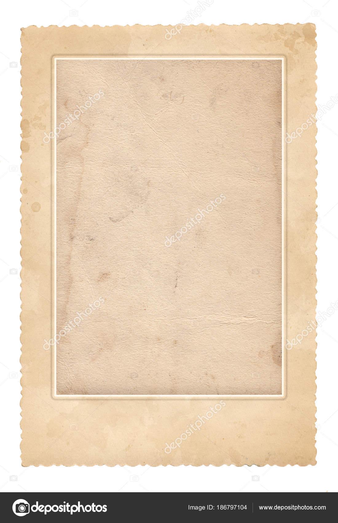 Old photo frame. Vintage paper. Retro card — Stock Photo ...