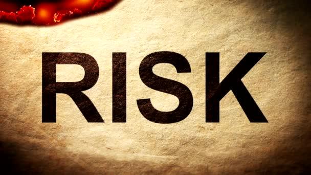 Riziko na papíře umírat v plamenech na popel
