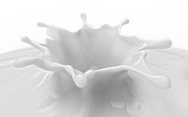 Milk splash isolated on white.