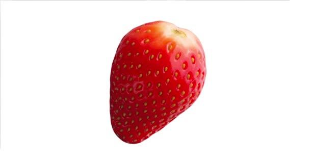 Közelről friss piros eper gyümölcs elszigetelt