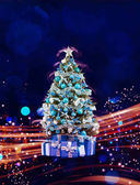Weihnachtsfeiertage abstrakten Hintergrund blinken. Hristmas Baum