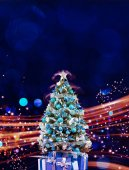 Christmas holiday blinking abstract background. hristmas tree