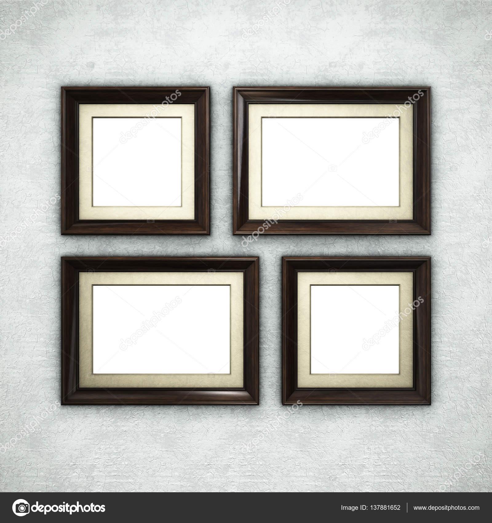 Wooden frame on wallpaper — Stock Photo © Irochka #137881652