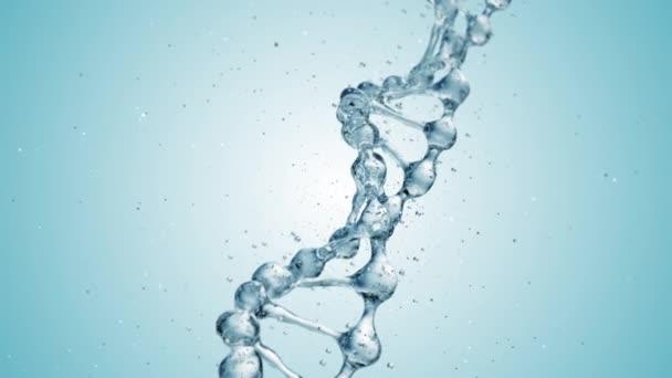 DNA molecule in water 3d illustration. HD