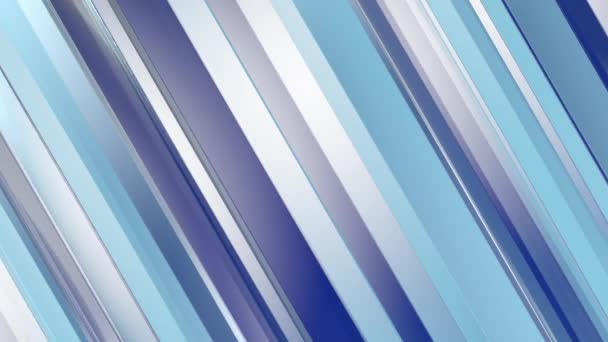 Pattern of blue color strips prisms. Abstract background. 3D rendering