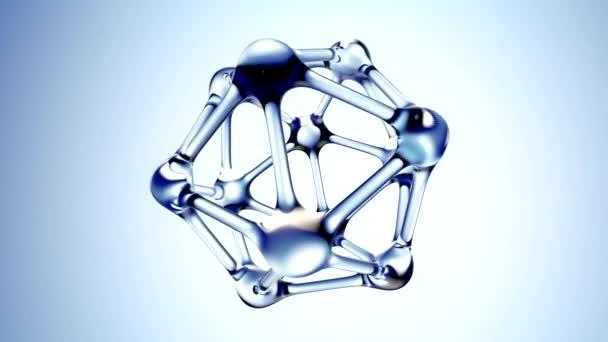 Molekula vody 3d ilustrace nad modrým pozadím. 3D vykreslování