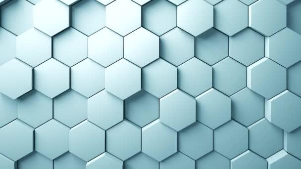Abstraktní šestiúhelníky pozadí náhodný pohyb