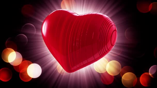 Happy Valentines Day. Video greetings to Valentines Day. In the center of a red heart. 4K
