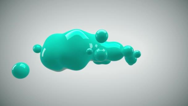 Abstraktní 3d vykreslení obrázku - znetvořená postava. Metaball modrá barva drop