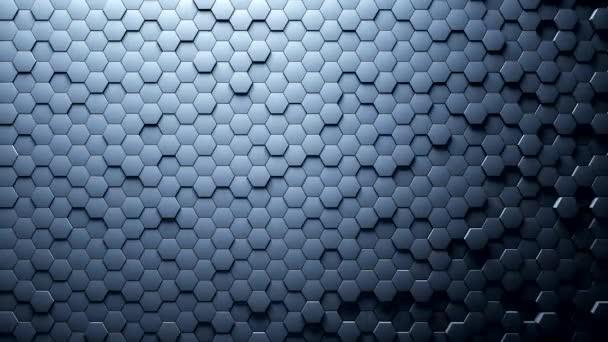 abstrakte Sechsecke Hintergrund zufällige Bewegung