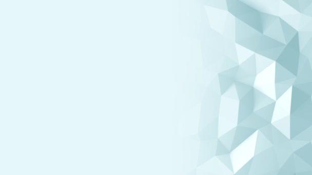 trojúhelníkové krystalické pozadí abstraktní animace. 4k