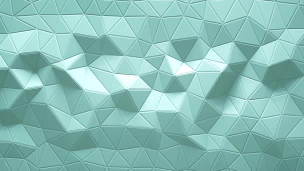 abstrakte dreieckige, kristalline Hintergrundanimation. 4k