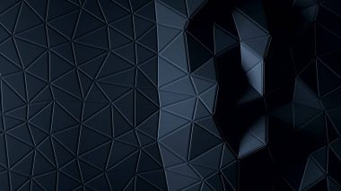 Abstract Polygonal Geometric background graphite color