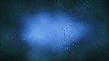 Particle seamless background on blue science concept.