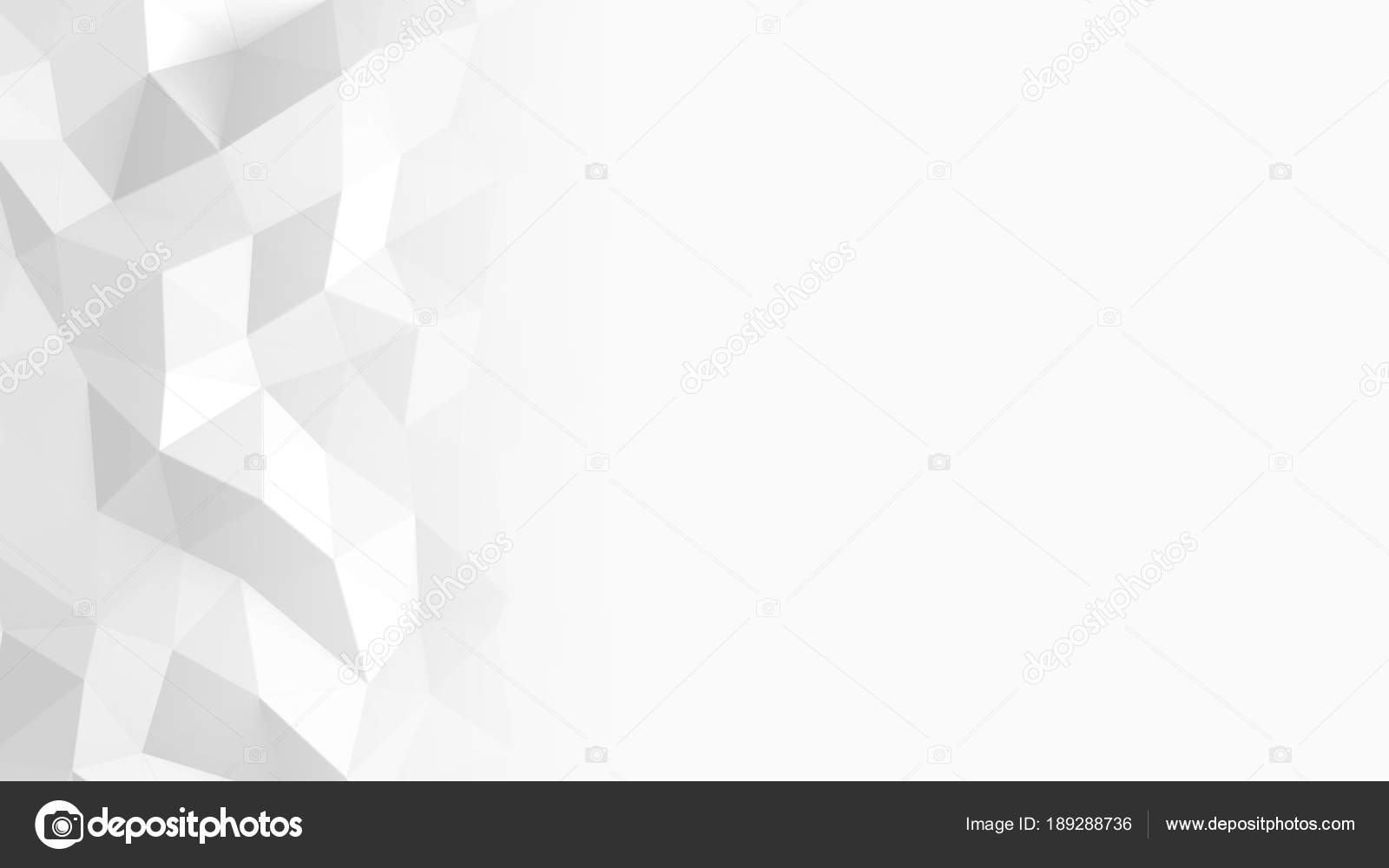 Abstract Polygonal Geometric Background White Color Stock Photo C Irochka 189288736