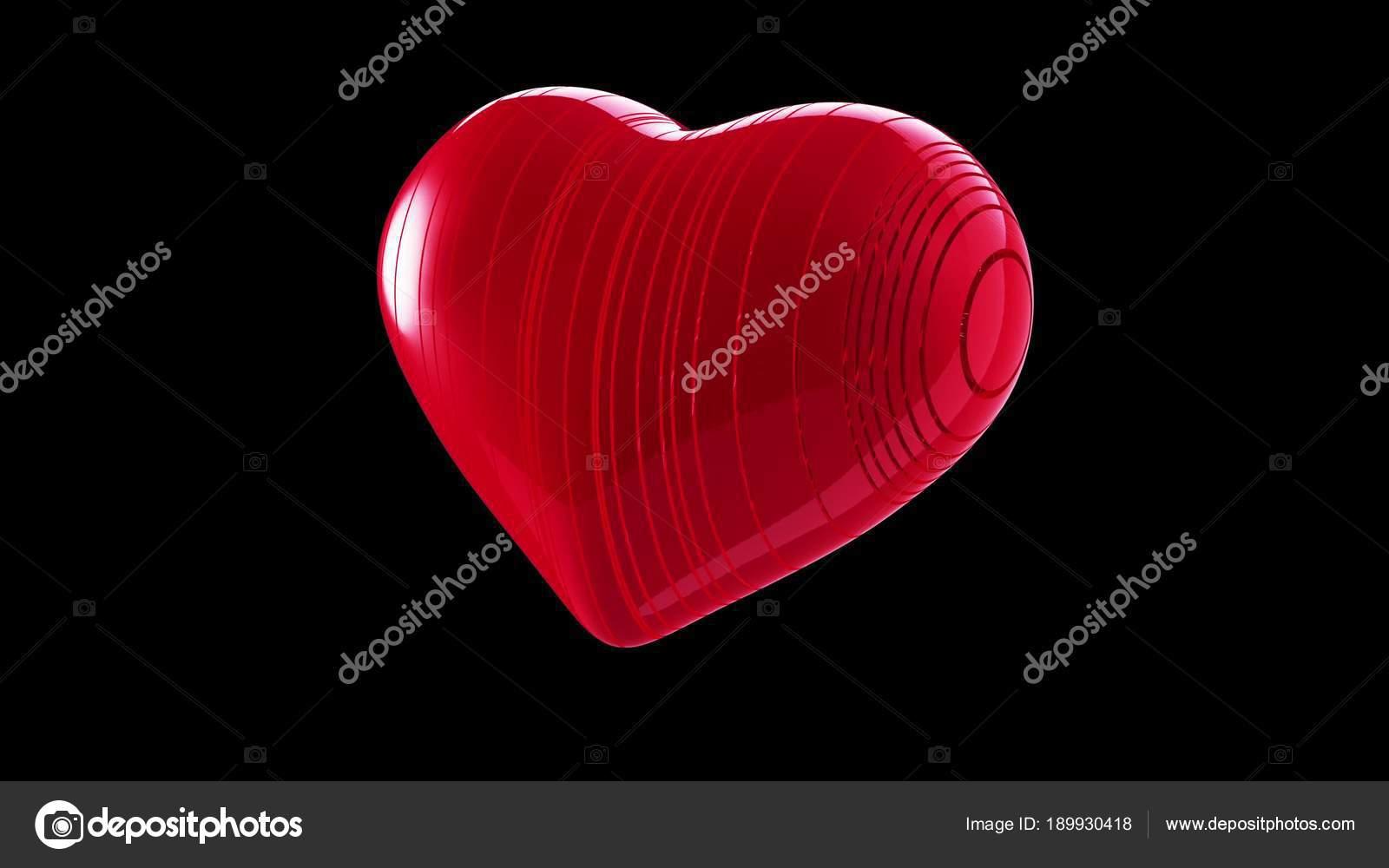 Cuore Rosso Su Sfondo Nero Foto Stock Irochka 189930418