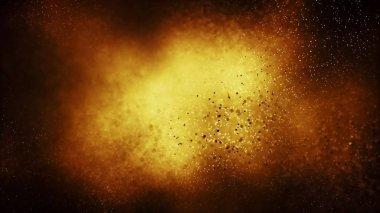 gold festive concept background. 3d