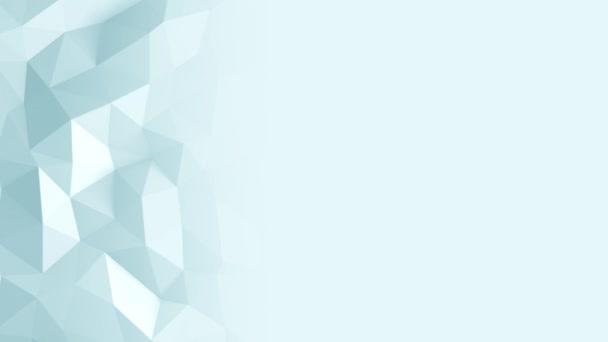 absztrakt háromszög alakú kristályos háttérben animáció. 4k