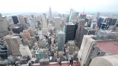 View from high-rise building to New York and East River