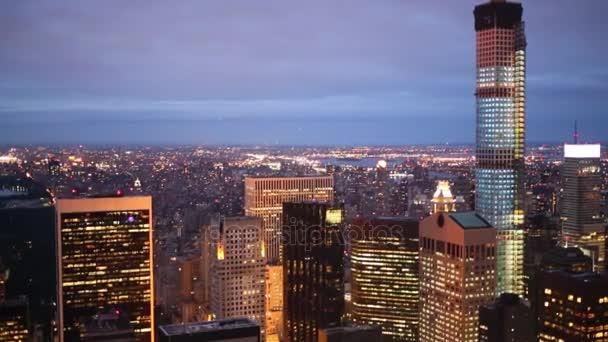 Pohled z výškové budově do New York city