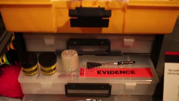 Beweise im Museum der Mafia in Washington