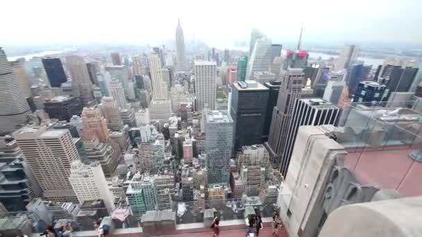 Pohled z výškové budově do New Yorku a East River