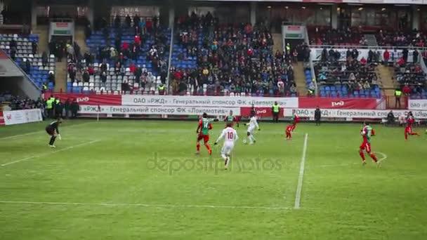 Angriff der Tor am Fußballspiel Lokomotive - Spartak