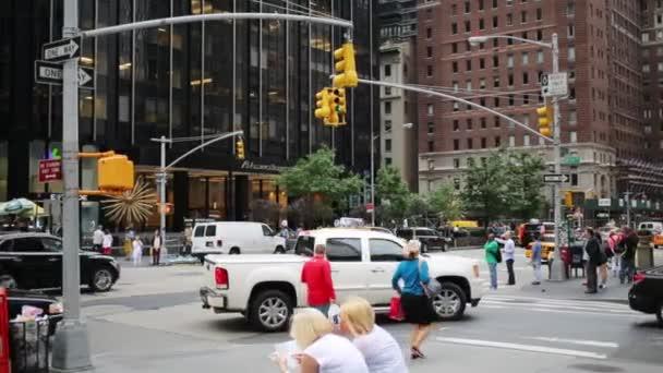 Semafory na ulici v New York City
