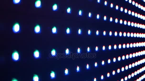 Righe di luci lampeggianti