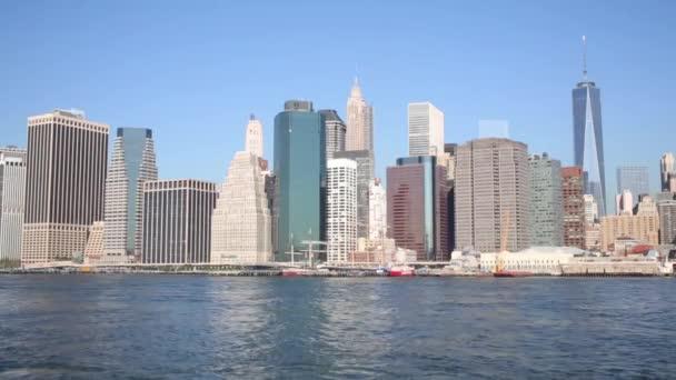 Mrakodrapů Manhattanu v New York city