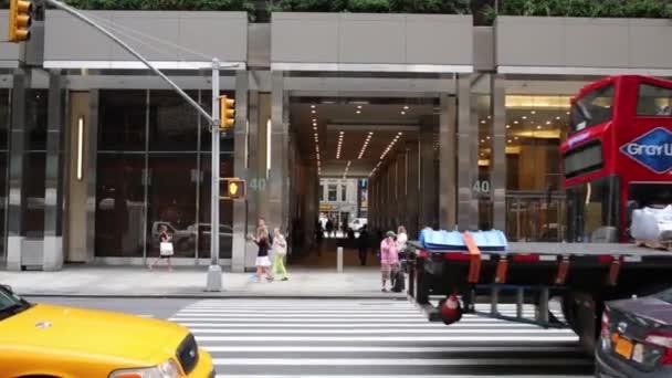 Vysoká budova na Manhattanu v New Yorku