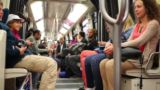 People in subway train car — Stock Video © Paha_L #146862001