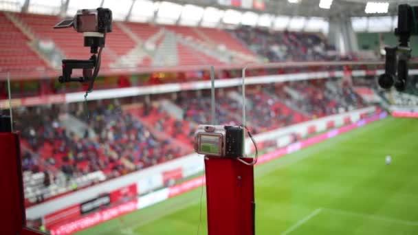 Időzített kamerát foci játék közben