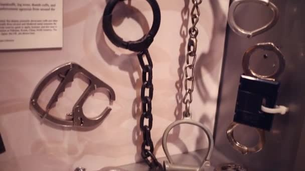 Handcuffs in Museum of mafia in Washington