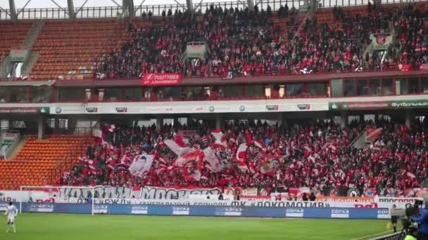 Spartak-Fans auf Fußball-Spiel