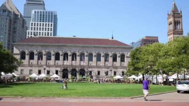 Public library of Boston city and lawn