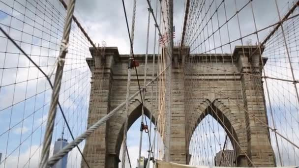 Brooklyn Bridge with ropes
