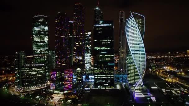 Mrakodrapy z mezinárodního obchodního centra proti panoráma
