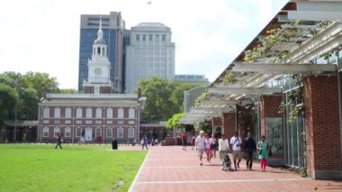 PHILADELPHIA, USA - SEPTEMBER 02, 2014: Independence Hall is the place where discussed, agreed and signed in 1776 the Declaration of Independence