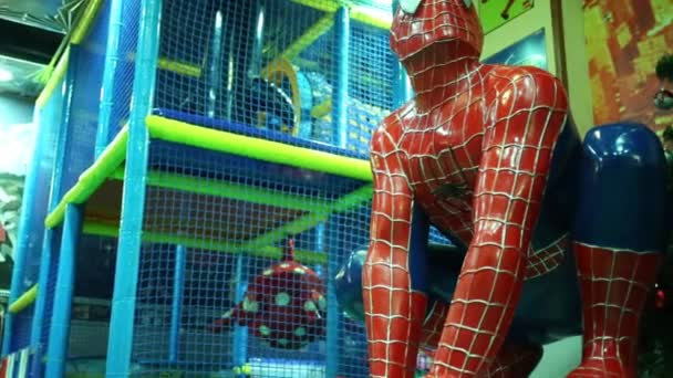 Moskva - 18. leden 2015: Spider-man auta v restauraci. Spider-Man - fiktivní postava, superhrdina z komiksu nakladatelství Marvel Comics