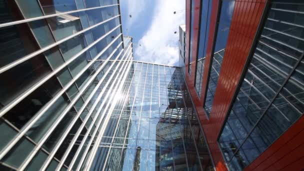 MOSCOW - MAY 20, 2015: Glass building of Business Center Silver City. Business-center Silver City is complex of two modern buildings 7 and 9 floors